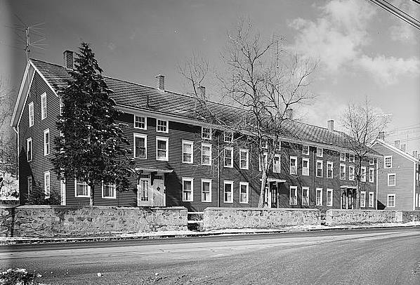 Ponemah mills workers houses taftville connecticut 1961 east front