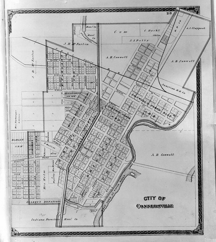 Maps of Connersville Roots Blower Company, Connersville Indiana