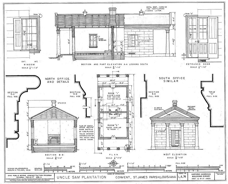 Floor Front Elevation Jersey : Floor plans and drawings uncle sam plantation convent st