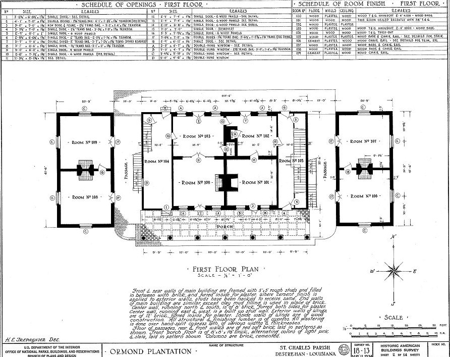 Old plantation house floor plans Louisiana plantation house plans