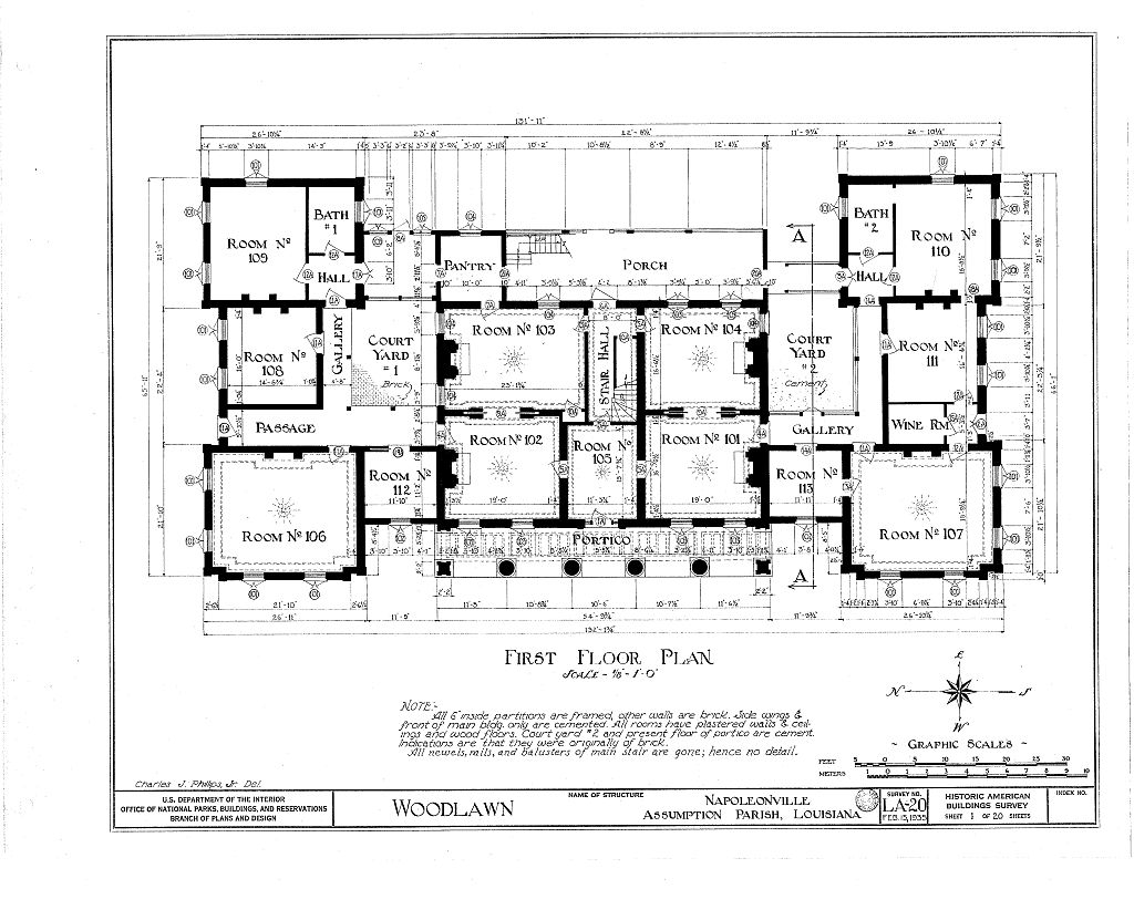Floor plans woodlawn plantation mansion napoleonville Historic house floor plans
