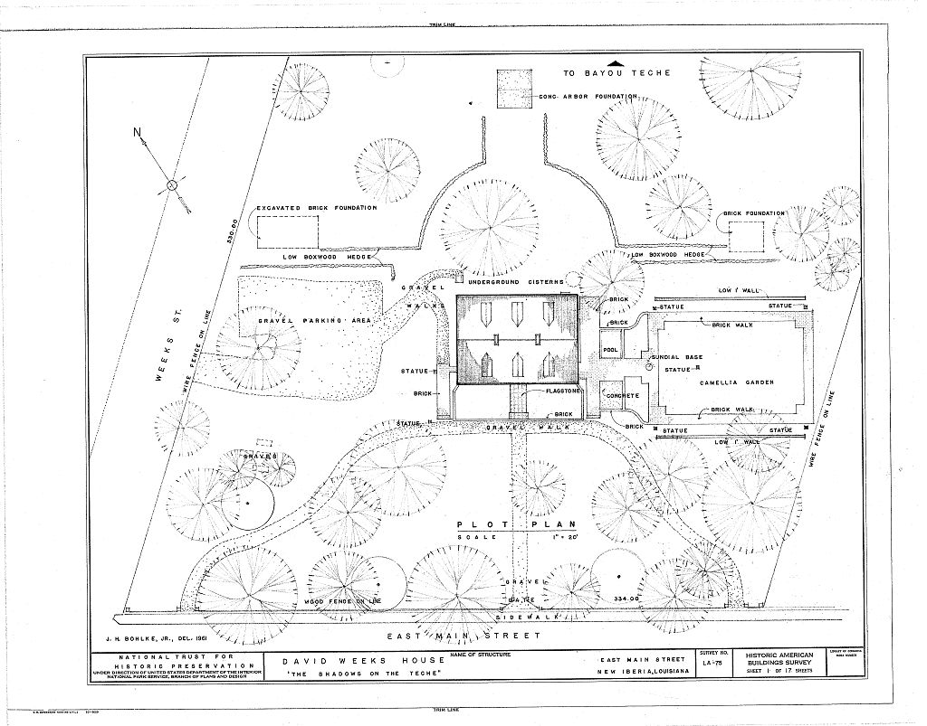 Floor Plans The Shadows Plantation Weeks Halls House Mansion, New ...