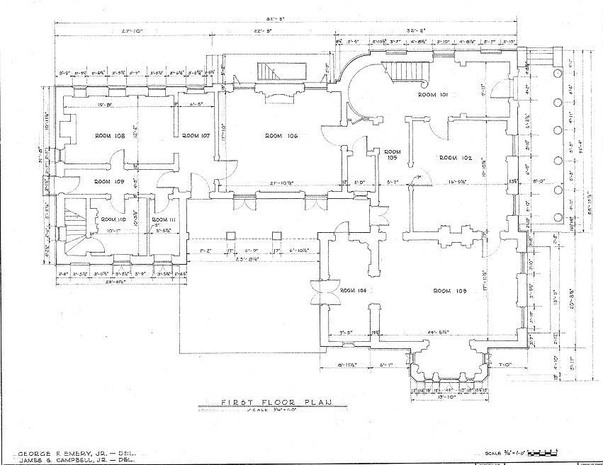 Floor plans robert a grinnan house new orleans louisiana for Orleans homes floor plans