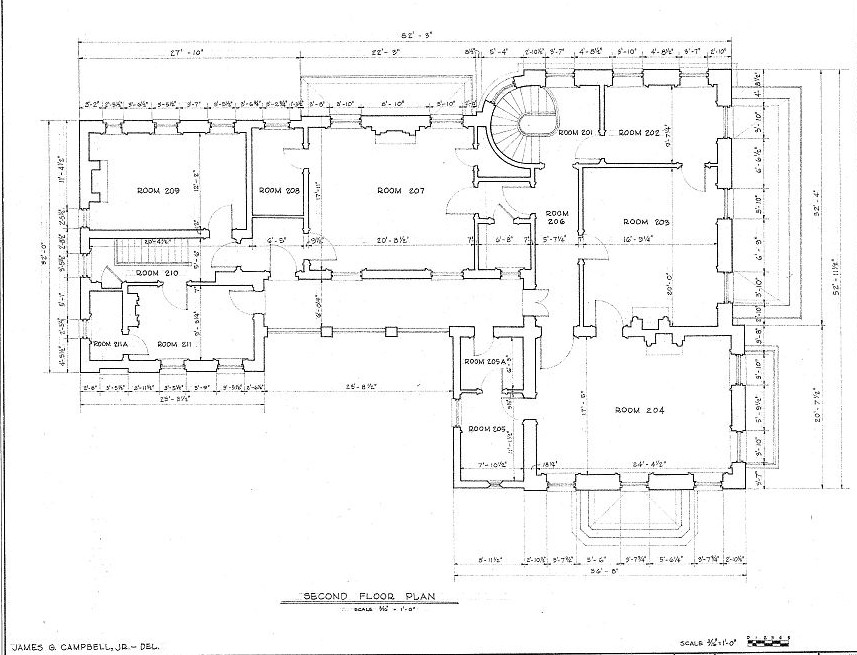 Floor plans robert a grinnan house new orleans louisiana for New orleans home plans