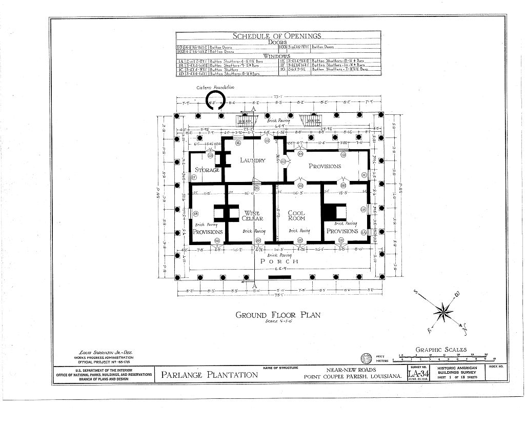Floor plans parlange plantation house new roads louisiana Louisiana plantation house plans