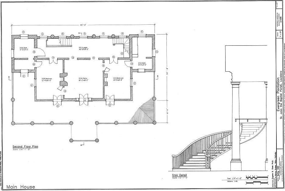 Floor plans evergreen plantation wallace st john the Louisiana plantation house plans