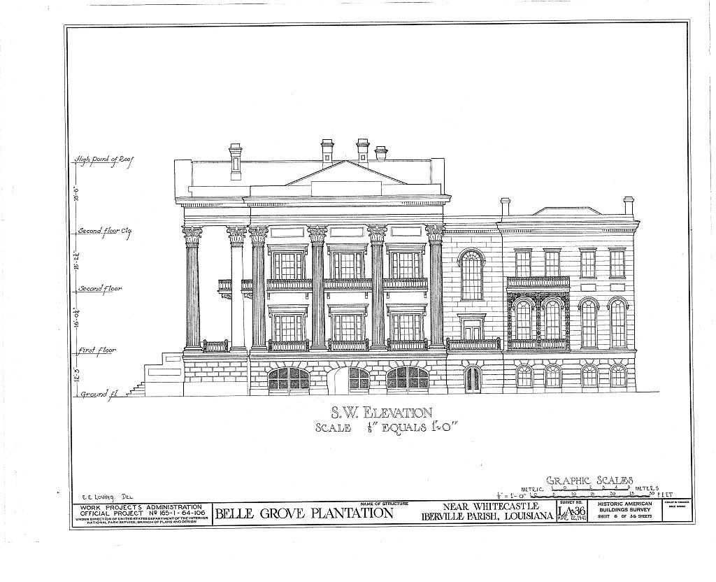Floor plans belle grove plantation mansion white castle Louisiana plantation house plans