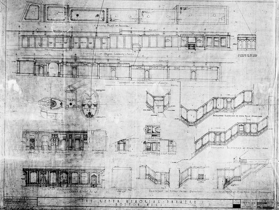 Blueprints 2 bf keith memorial theater opera house boston bf keith memorial theater opera house boston massachusetts october 1926 elevations of arcade malvernweather
