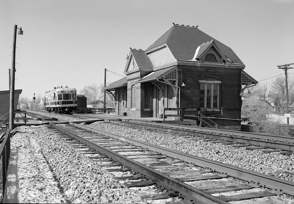 Hotel Front Elevation Images : Pictures baltimore ohio railroad train station laurel