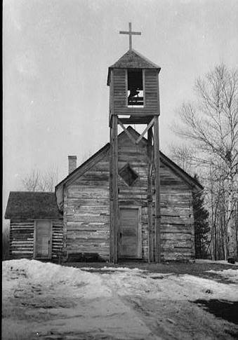 Log Church Sawyer Minnesota