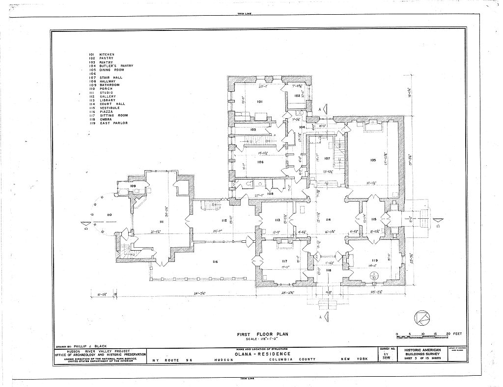 Floor plans of the mansion olana frederic edwin church for New york house plans
