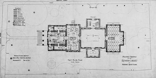 Floor Plans Redwood Library Newport Rhode Island