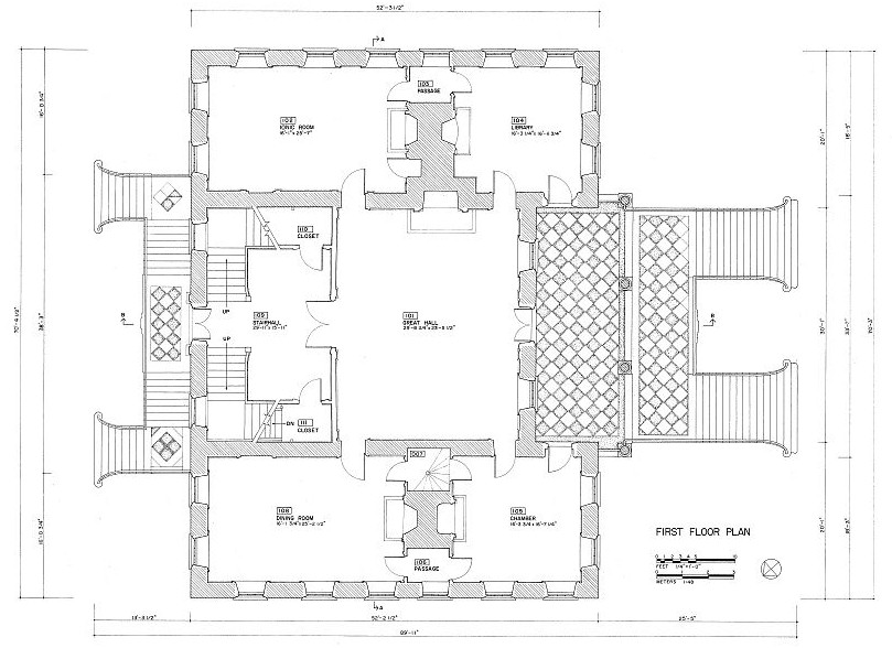 Floor Plans And Elevations Drayton Hall Charleston South
