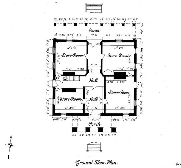 Ainsley Hall   Robert Mills House, Columbia South Carolina Ground Floor Plan
