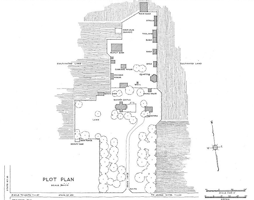 Floor Plans Bacons Castle, Surry County