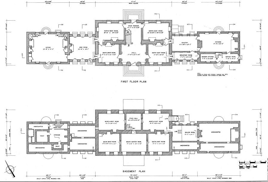 Floor Plans And Elevations Carters Grove Mansion