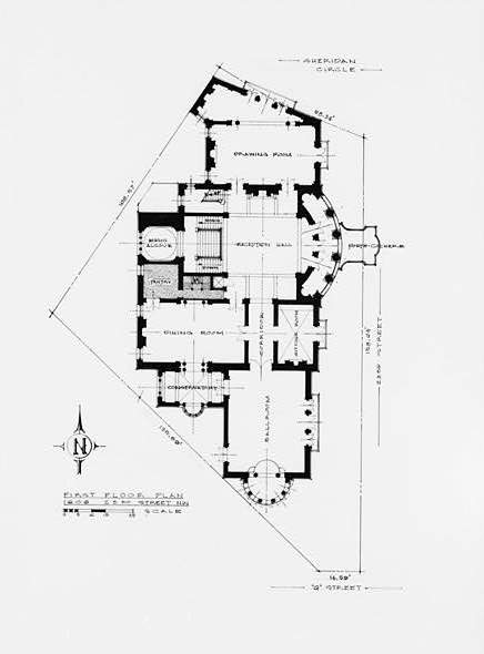 Pictures 2 edward everett house turkish embassy for Washington house plans